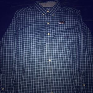 Chaps Blue Plaid Button Up